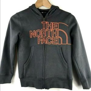 The North Face Logo Wear Full Zip Hoodie Graphite